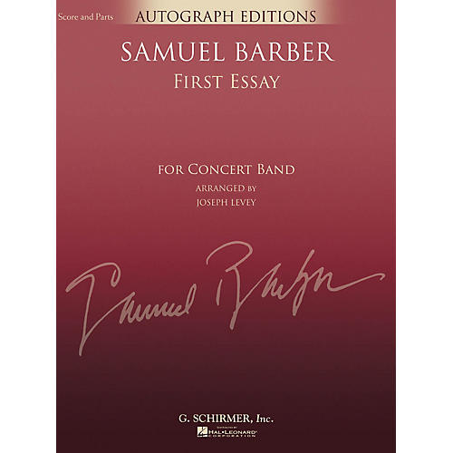 G. Schirmer First Essay (Score and Parts) Concert Band Level 5 Composed by Samuel Barber Arranged by Joseph Levey-thumbnail