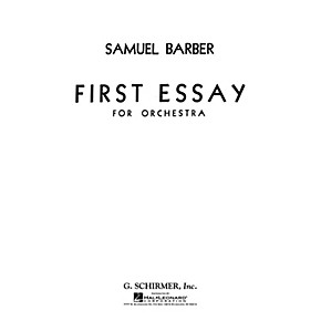 samuel barber essay Samuel barber: samuel barber, american composer who is considered one of the most expressive representatives samuel barber and third essay for orchestra had.