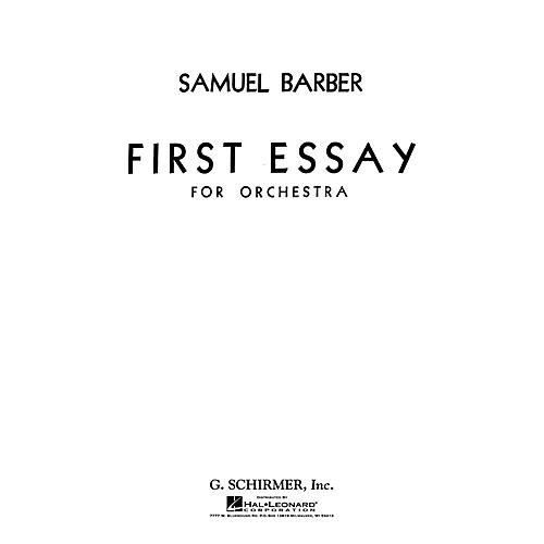 samuel barber first essay for orchestra score Samuel barber - composer - first essay (1937) score and part(s) score and part(s) foxtrot for orchestra first essay.