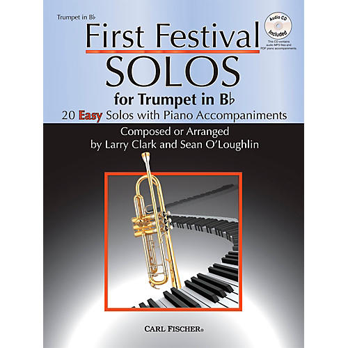 Carl Fischer First Festival Solos for Trumpet (20 Easy Solos with Piano Accompaniments)-thumbnail