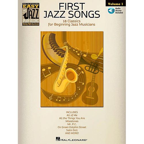 Hal Leonard First Jazz Songs - Easy Jazz Play-Along Vol. 1 Book/CD-thumbnail