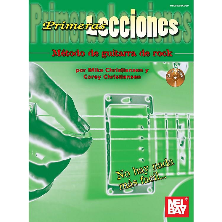 Mel BayFirst Lessons Rock Guitar, Spanish Edition Book/CD Set