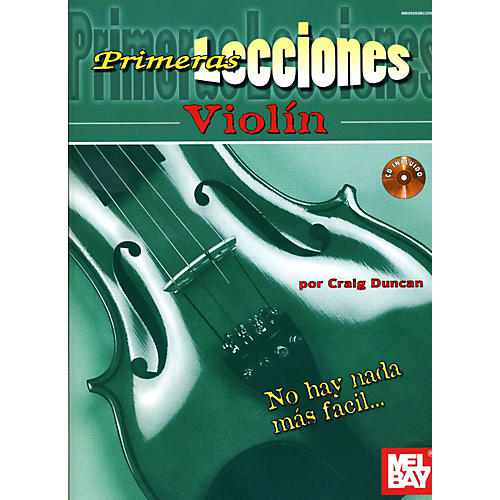 Mel Bay First Lessons Violin Spanish Edition Book/CD Set-thumbnail