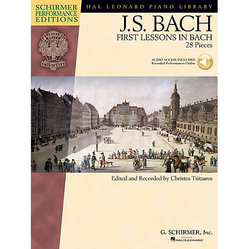 G. Schirmer First Lessons in Bach (28 Pieces) Schirmer Performance Editions Book/Audio Online (Elem to Intermediate)-thumbnail