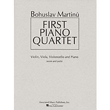 Associated First Piano Quartet (Score and Parts) Ensemble Series Composed by Bohuslav Martinu
