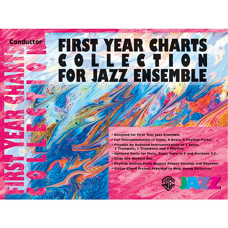 Alfred First Year Charts Collection for Jazz Ensemble 2nd B-Flat Tenor Saxophone