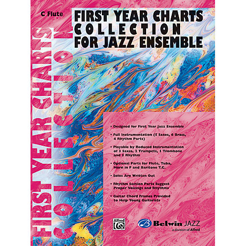 Alfred First Year Charts Collection for Jazz Ensemble C Flute-thumbnail