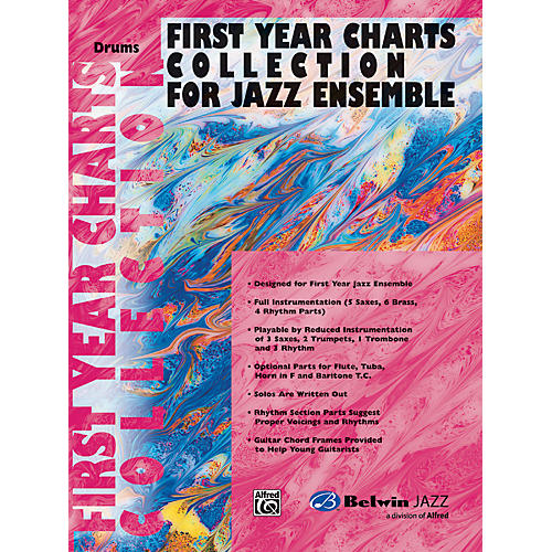 Alfred First Year Charts Collection for Jazz Ensemble Drums