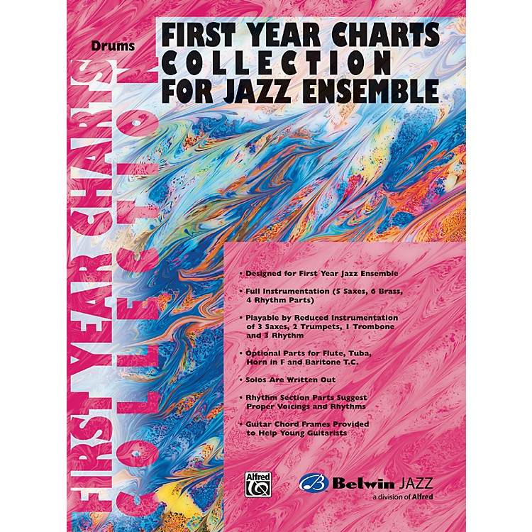 AlfredFirst Year Charts Collection for Jazz Ensemble Drums