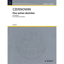 Schott Five Action Sketches (for 2 Voices and Ensemble (Score and Parts)) Ensemble Series Book