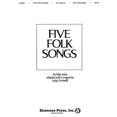 Shawnee Press Five Folk Songs High Voice-thumbnail