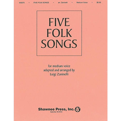 Shawnee Press Five Folk Songs (Medium Voice) composed by Various-thumbnail
