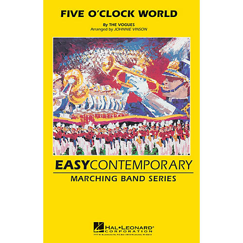 Hal Leonard Five O'clock World Marching Band Level 2-3 by The Vogues Arranged by Johnnie Vinson-thumbnail