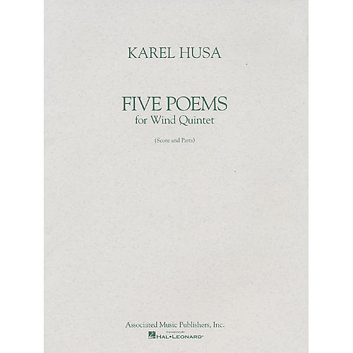 Associated Five Poems for Wind Quintet (Score and Parts) Woodwind Ensemble Series Composed by Karel Husa-thumbnail