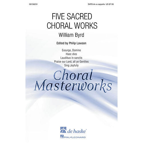 De Haske Music Five Sacred Choral Works (Collection) SATB DV A Cappella composed by William Byrd-thumbnail