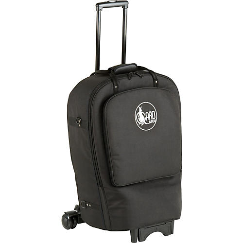 Gard Fixed Bell French Horn Wheelie Bag 41-WBFSK Black Synthetic w/ Leather Trim