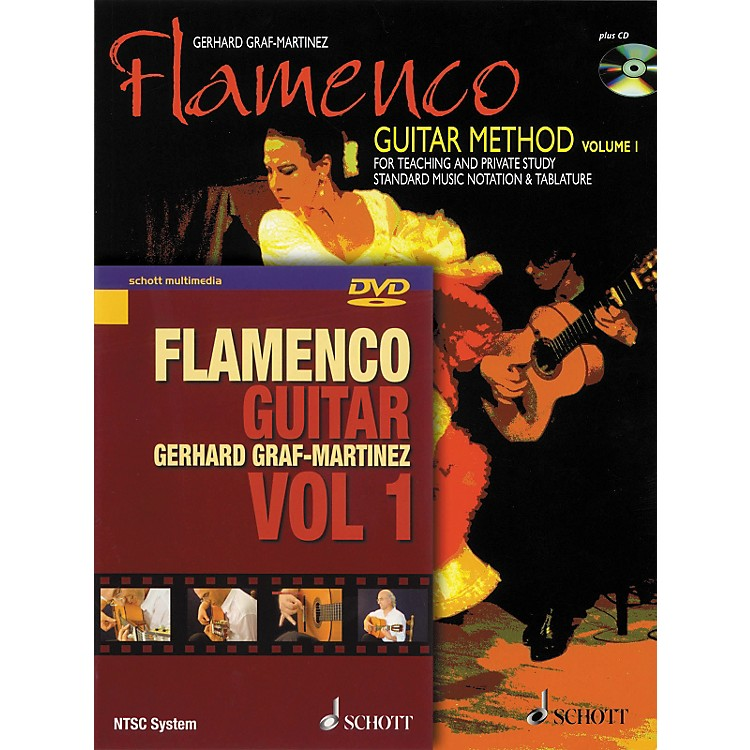 Schott Flamenco Guitar Method Volume 1 Book with CD and DVD