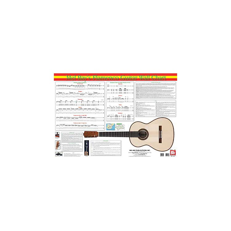 Mel BayFlamenco Guitar Wall Chart