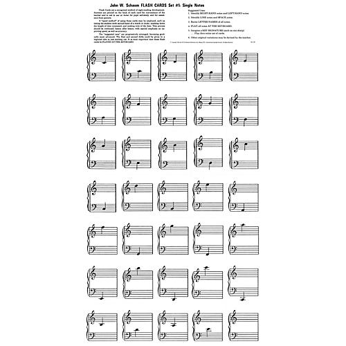 SCHAUM Flash Cards - Set 1 Educational Piano Series Softcover-thumbnail