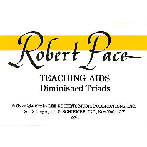 Lee Roberts Flash Cards, Diminished Triads Pace Piano Education Series-thumbnail