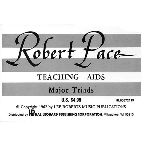 Lee Roberts Flash Cards, Major Triads Pace Piano Education Series Composed by Robert Pace