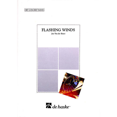 De Haske Music Flashing Winds Concert Band Level 4 Composed by Jan Van der Roost-thumbnail
