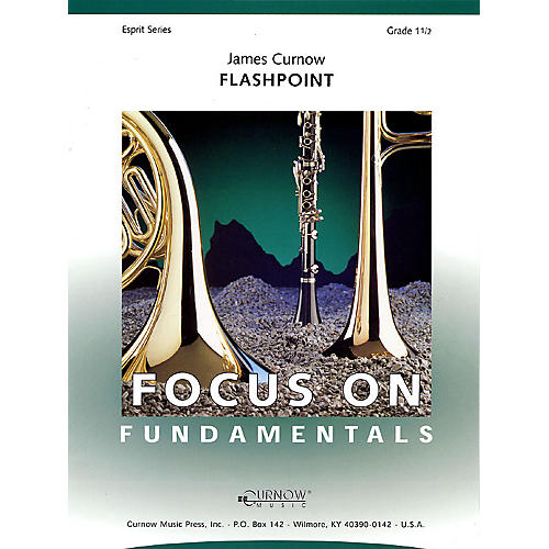 Curnow Music Flashpoint (Grade 1.5 - Score Only) Concert Band Level 1.5 Composed by James Curnow-thumbnail