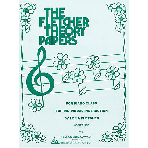 Boston Music Fletcher Theory Papers (Book 3) Music Sales America Series Softcover Written by Leila Fletcher-thumbnail
