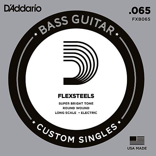 D'Addario FlexSteels Long Scale Bass Guitar Single String (.065)