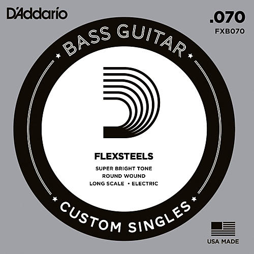 D'Addario FlexSteels Long Scale Bass Guitar Single String (.070)