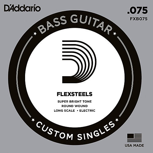 D'Addario FlexSteels Long Scale Bass Guitar Single String (.075)