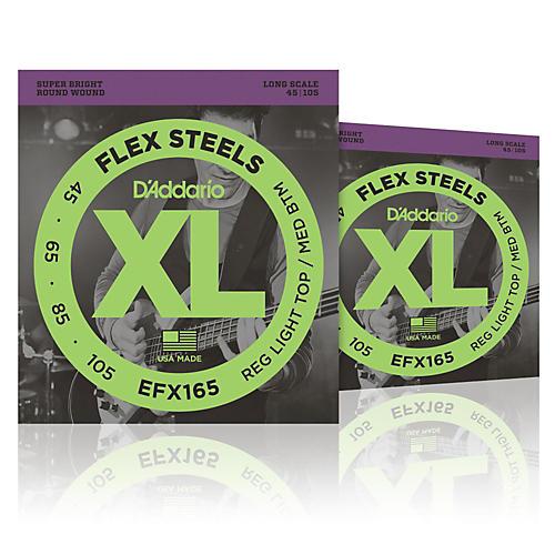 D'Addario FlexSteels Long Scale Bass Strings (45-105) - 2-Pack
