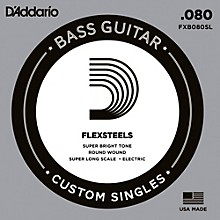 D'Addario FlexSteels Super Long Scale Bass Guitar Single String (.080)
