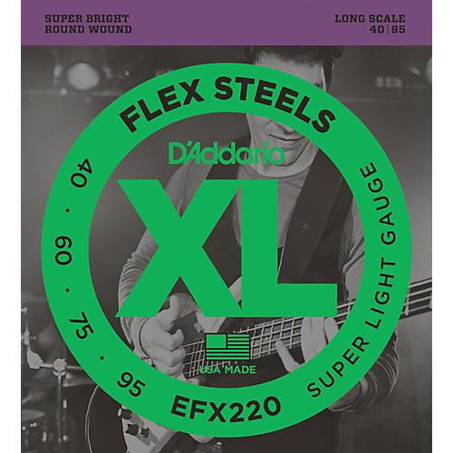 D'Addario Flexsteels Long Scale Bass Guitar Strings (40-95)