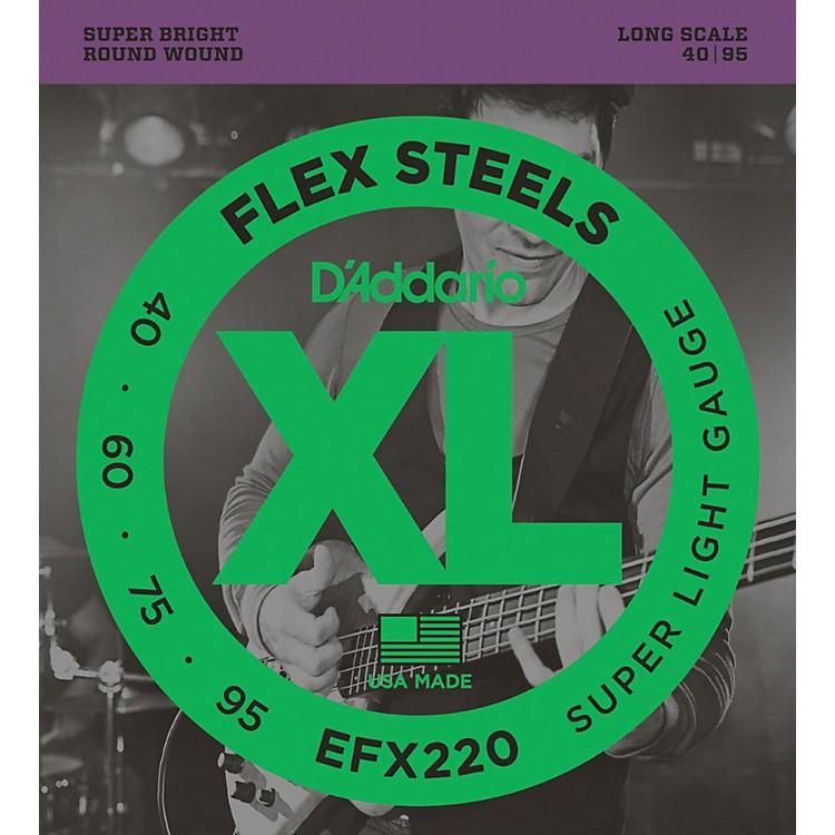 D'AddarioFlexsteels Long Scale Bass Guitar Strings (40-95)