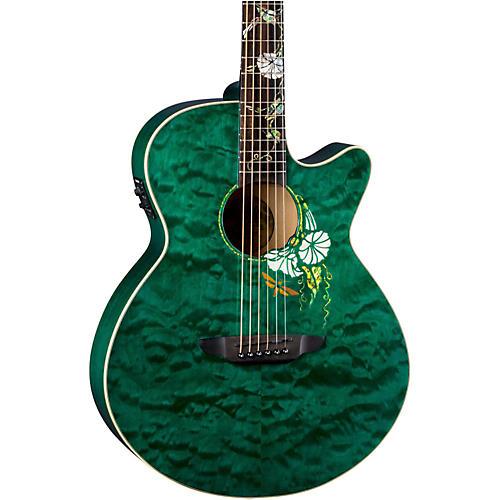 Luna Guitars Flora Moonflower Acoustic-Electric Guitar-thumbnail