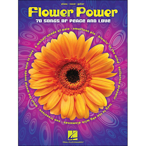 Hal Leonard Flower Power arranged for piano, vocal, and guitar (P/V/G)