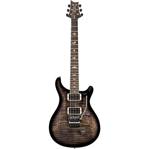 PRS Floyd Custom 24 Carved Flame Maple 10 Top with Nickel Hardware Solid Body Electric Guitar Charcoal Burst