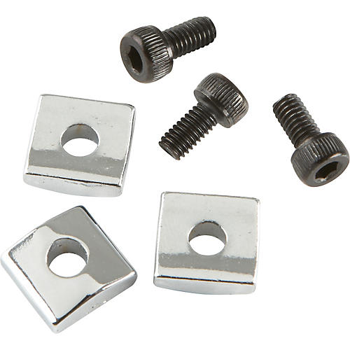 ProLine Floyd Rose-Style Locking Nut Block w/ Screws 3 Pack Chrome