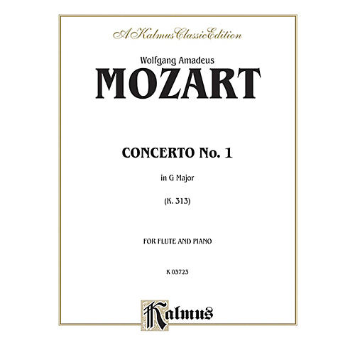 Alfred Flute Concerto No. 1 K. 313 (G Major) for Flute By Wolfgang Amadeus Mozart  Book-thumbnail