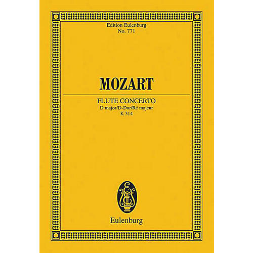 Eulenburg Flute Concerto in D Major, K. 314 Schott by Mozart Arranged by Rudolf Gerber-thumbnail