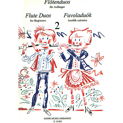 Editio Musica Budapest Flute Duos for Beginners - Volume 2 EMB Series-thumbnail