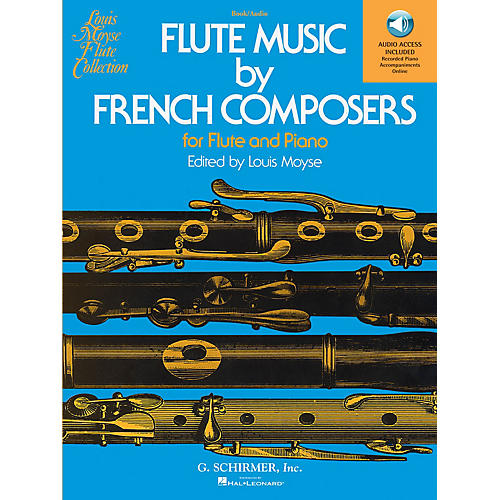 G. Schirmer Flute Music by French Composers for Flute and Piano Woodwind Solo Softcover Audio Online Edited by Moyse-thumbnail