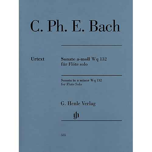 G. Henle Verlag Flute Sonata A minor Wq 132 Henle Music Softcover by Carl Philipp Emanuel Bach Edited by Marion Beyer-thumbnail