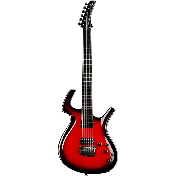 Parker Guitars Fly Mojo Flame Electric Guitar Black Cherry Burst