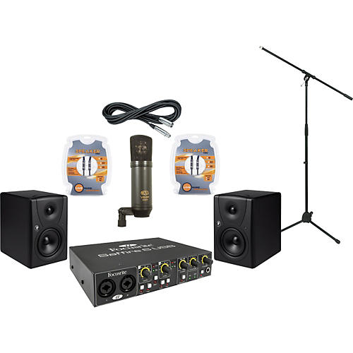 Mackie Focusrite Saffire 6 and Mackie MR5 Recording Package-thumbnail