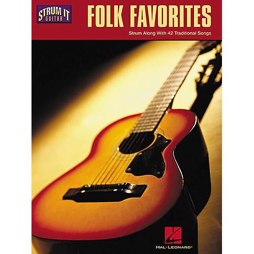 Hal Leonard Folk Favorites Strum It Guitar Book