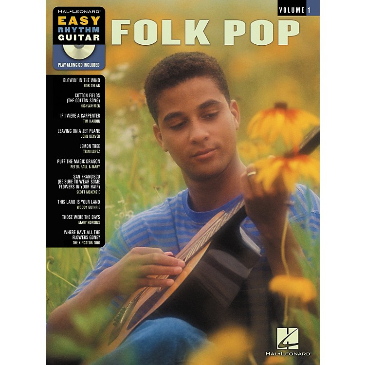 Hal Leonard Folk Pop Easy Rhythm Guitar Volume 1 (Book/CD)