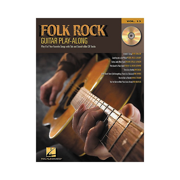 Hal Leonard Folk Rock Guitar Play-Along Series Book with CD