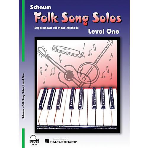 SCHAUM Folk Song Solos (Level 1) Educational Piano Book (Level Elem)-thumbnail
